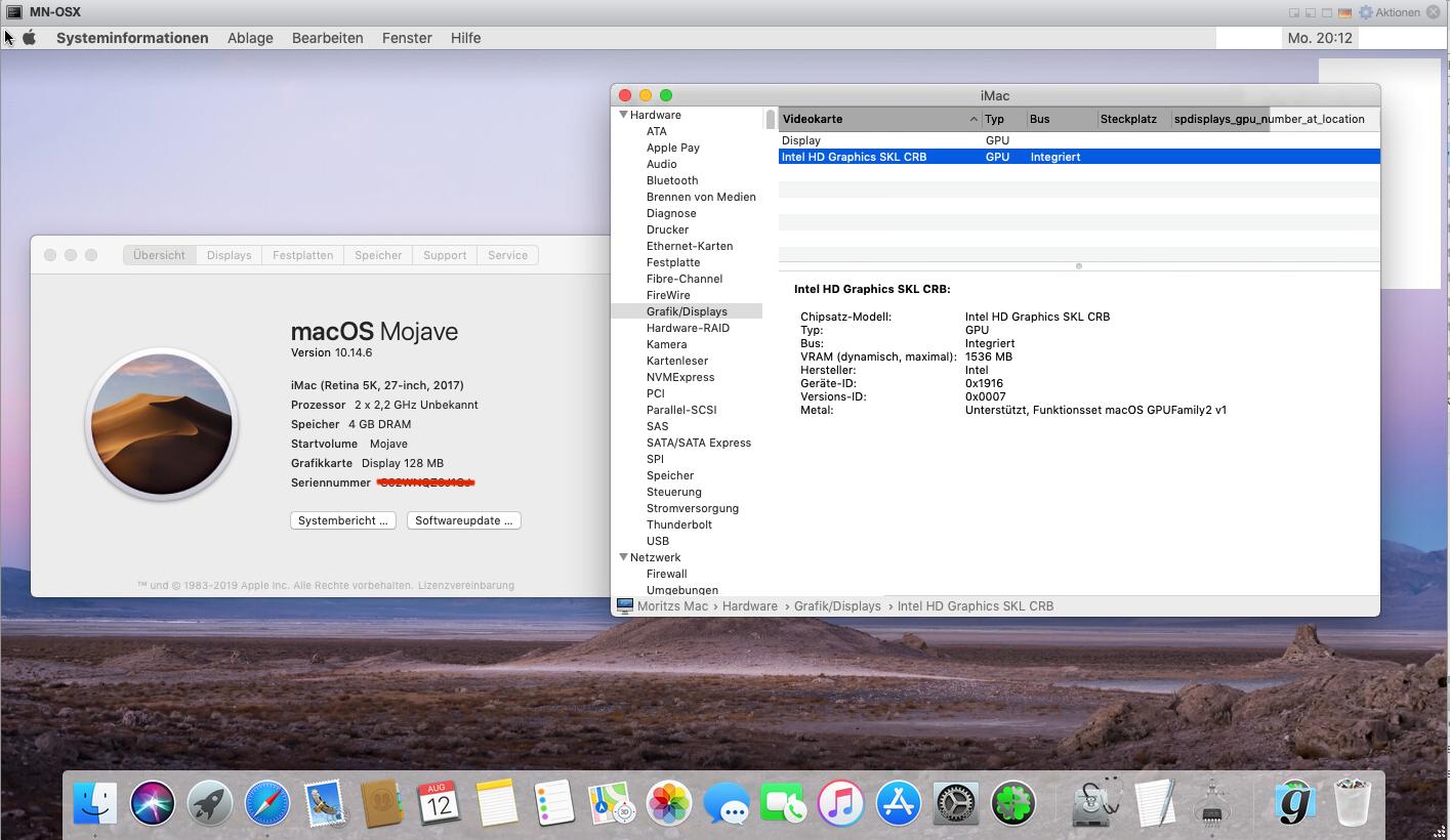 GPU Probleme VMware ESXI - macOS Mojave 10 14 - Hackintosh-Forum