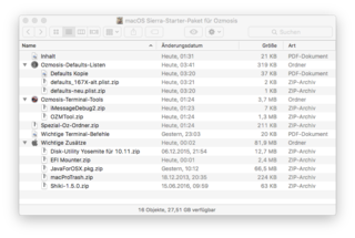 Ozmosis-Package for MacOS Sierra - Complete Guides - Hackintosh