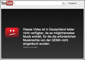 GEMA und YouTube einigen sich (kein Scherz) - Dies und Das