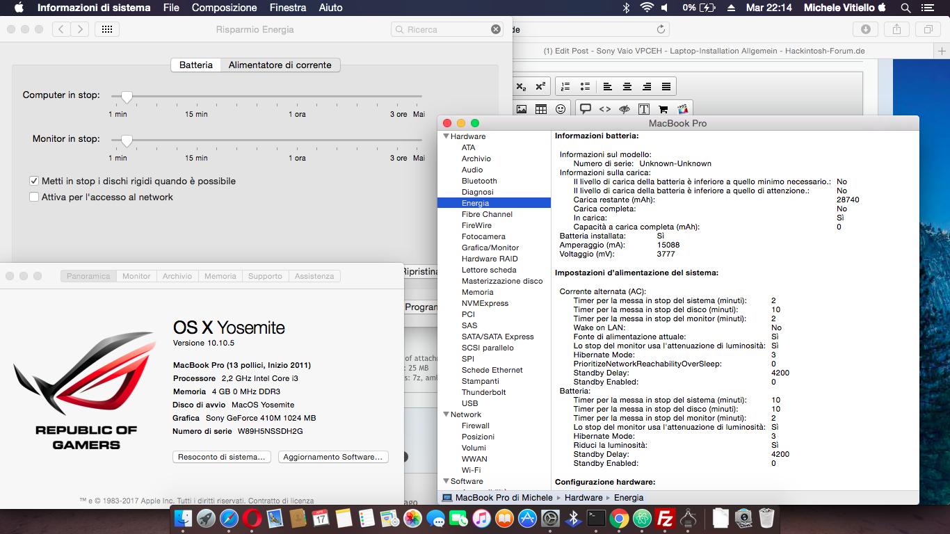 Sony Vaio VPCEH - Laptop-Installation Allgemein - Hackintosh-Forum